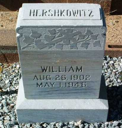 HERSHKOWITZ, WILLIAM - Yavapai County, Arizona | WILLIAM HERSHKOWITZ - Arizona Gravestone Photos