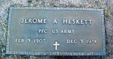 HESKETT, JEROME ATICUS - Yavapai County, Arizona | JEROME ATICUS HESKETT - Arizona Gravestone Photos