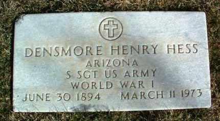 HESS, DENSMORE HENRY - Yavapai County, Arizona | DENSMORE HENRY HESS - Arizona Gravestone Photos