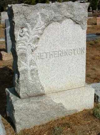 HETHERINGTON, FAMILY HEADSTONE - Yavapai County, Arizona | FAMILY HEADSTONE HETHERINGTON - Arizona Gravestone Photos