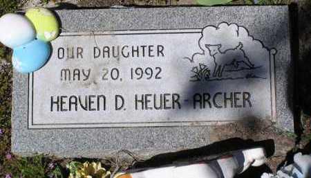 HEUER-ARCHER, HEAVEN D. - Yavapai County, Arizona   HEAVEN D. HEUER-ARCHER - Arizona Gravestone Photos
