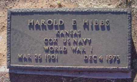 HIBBS, HAROLD E. - Yavapai County, Arizona | HAROLD E. HIBBS - Arizona Gravestone Photos