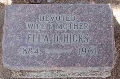 HADLEY HICKS, ELLA DATY - Yavapai County, Arizona | ELLA DATY HADLEY HICKS - Arizona Gravestone Photos