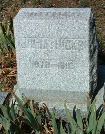 HICKS, JULIA - Yavapai County, Arizona | JULIA HICKS - Arizona Gravestone Photos