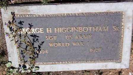 HIGGINBOTHAM, GEORGE H., SR. - Yavapai County, Arizona | GEORGE H., SR. HIGGINBOTHAM - Arizona Gravestone Photos