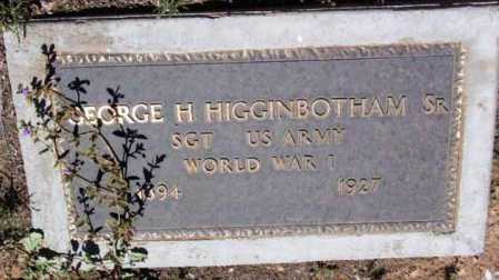 HIGGINBOTHAM, GEORGE H., SR. - Yavapai County, Arizona   GEORGE H., SR. HIGGINBOTHAM - Arizona Gravestone Photos