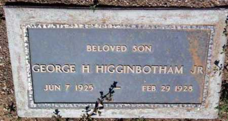 HIGGINBOTHAM, GEORGE H. JR. - Yavapai County, Arizona | GEORGE H. JR. HIGGINBOTHAM - Arizona Gravestone Photos