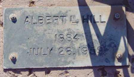 HILL, ALBERT L. - Yavapai County, Arizona | ALBERT L. HILL - Arizona Gravestone Photos