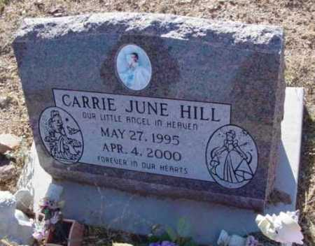 HILL, CARRIE JUNE - Yavapai County, Arizona | CARRIE JUNE HILL - Arizona Gravestone Photos