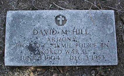 HILL, DAVID M. - Yavapai County, Arizona   DAVID M. HILL - Arizona Gravestone Photos