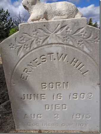 HILL, ERNEST W. - Yavapai County, Arizona | ERNEST W. HILL - Arizona Gravestone Photos