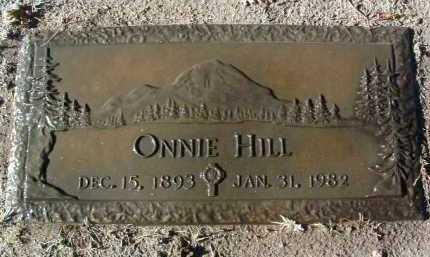 HILL, ONNIA (ONNIE) - Yavapai County, Arizona | ONNIA (ONNIE) HILL - Arizona Gravestone Photos