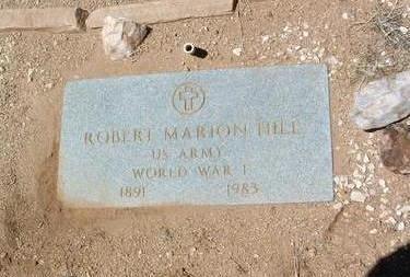 HILL, ROBERT MARION - Yavapai County, Arizona   ROBERT MARION HILL - Arizona Gravestone Photos