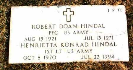 HINDAL, ROBERT DOAN - Yavapai County, Arizona   ROBERT DOAN HINDAL - Arizona Gravestone Photos