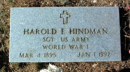 HINDMAN, HAROLD P. - Yavapai County, Arizona | HAROLD P. HINDMAN - Arizona Gravestone Photos