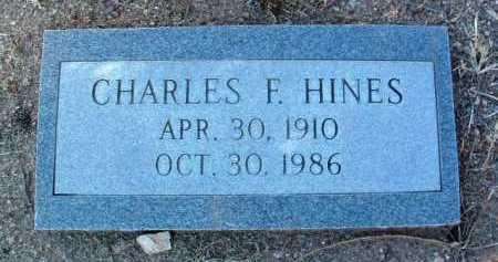 HINES, CHARLES FRANKLIN - Yavapai County, Arizona | CHARLES FRANKLIN HINES - Arizona Gravestone Photos