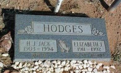 HODGES, ELIZABETH JENNIE - Yavapai County, Arizona | ELIZABETH JENNIE HODGES - Arizona Gravestone Photos