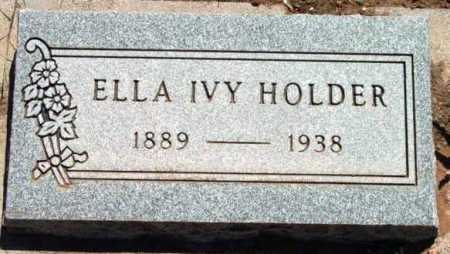 WELLS HOLDER, ELLA IVY - Yavapai County, Arizona   ELLA IVY WELLS HOLDER - Arizona Gravestone Photos