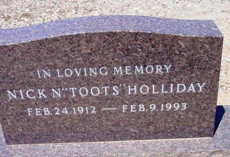HOLLIDAY, NICK N. (TOOTS) - Yavapai County, Arizona   NICK N. (TOOTS) HOLLIDAY - Arizona Gravestone Photos