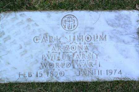 HOLM, CARL J. - Yavapai County, Arizona   CARL J. HOLM - Arizona Gravestone Photos