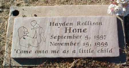 HONE, HAYDEN ROLLISON - Yavapai County, Arizona   HAYDEN ROLLISON HONE - Arizona Gravestone Photos