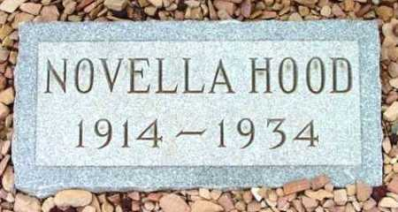 HOOD, NOVELLA - Yavapai County, Arizona | NOVELLA HOOD - Arizona Gravestone Photos
