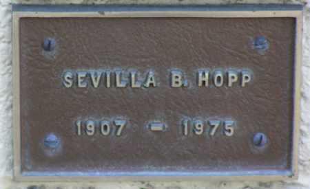 HOPP, SEVILLA B. - Yavapai County, Arizona | SEVILLA B. HOPP - Arizona Gravestone Photos