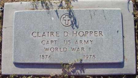 HOPPER, CLAIRE D. - Yavapai County, Arizona   CLAIRE D. HOPPER - Arizona Gravestone Photos