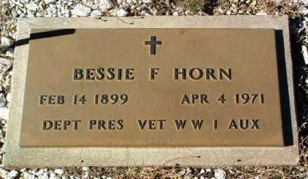 HORN, BESSIE F. - Yavapai County, Arizona | BESSIE F. HORN - Arizona Gravestone Photos