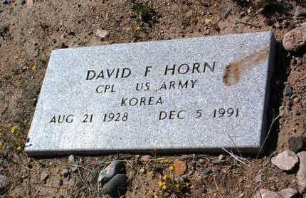 HORN, DAVID FRANKLIN - Yavapai County, Arizona | DAVID FRANKLIN HORN - Arizona Gravestone Photos