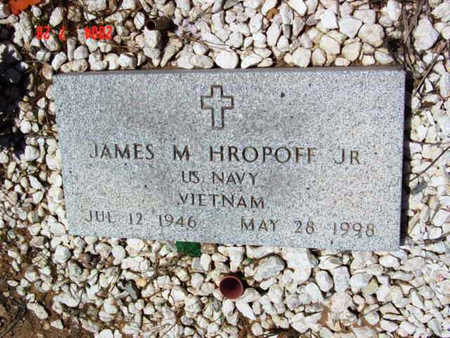 HROPOFF, JAMES MAXIM, JR. - Yavapai County, Arizona | JAMES MAXIM, JR. HROPOFF - Arizona Gravestone Photos
