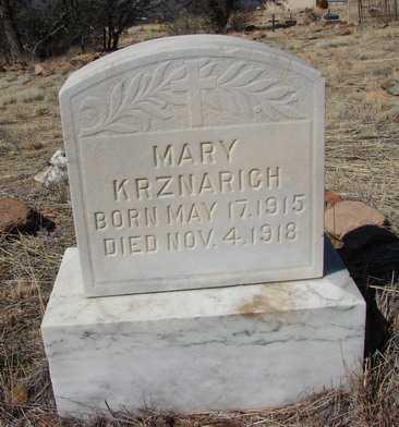 KRZNARICH, MARY - Yavapai County, Arizona | MARY KRZNARICH - Arizona Gravestone Photos