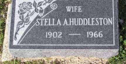 HUDDLESTON, STELLA A. - Yavapai County, Arizona | STELLA A. HUDDLESTON - Arizona Gravestone Photos