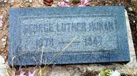HUMAN, GEORGE LUTHER - Yavapai County, Arizona | GEORGE LUTHER HUMAN - Arizona Gravestone Photos