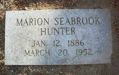 HUNTER, MARION SEABROOK - Yavapai County, Arizona | MARION SEABROOK HUNTER - Arizona Gravestone Photos