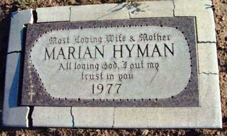 HYMAN, MARIAN - Yavapai County, Arizona | MARIAN HYMAN - Arizona Gravestone Photos