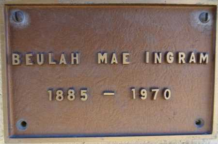 INGRAM, BEULAH MAE - Yavapai County, Arizona | BEULAH MAE INGRAM - Arizona Gravestone Photos