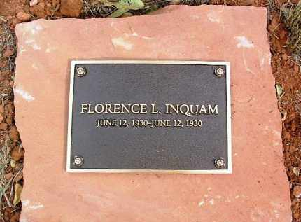 INQUAM, FLORENCE L. - Yavapai County, Arizona | FLORENCE L. INQUAM - Arizona Gravestone Photos