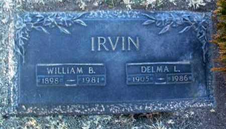 IRVIN, WILLIAM B. - Yavapai County, Arizona | WILLIAM B. IRVIN - Arizona Gravestone Photos