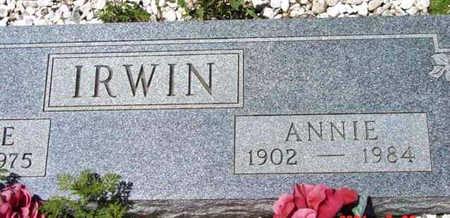 IRWIN, ANNIE - Yavapai County, Arizona | ANNIE IRWIN - Arizona Gravestone Photos
