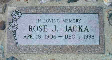 JACKA, ROSE J - Yavapai County, Arizona | ROSE J JACKA - Arizona Gravestone Photos