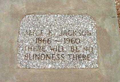 JACKSON, ALICE ELFRED - Yavapai County, Arizona | ALICE ELFRED JACKSON - Arizona Gravestone Photos