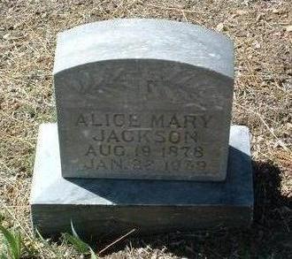 JACKSON, ALICE MARY - Yavapai County, Arizona   ALICE MARY JACKSON - Arizona Gravestone Photos