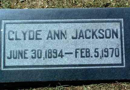 JACKSON, CLYDE ANN - Yavapai County, Arizona | CLYDE ANN JACKSON - Arizona Gravestone Photos