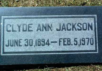 JACKSON, CLYDE ANN - Yavapai County, Arizona | CLYDE ANN JACKSON - Arizona Gravestone Photos