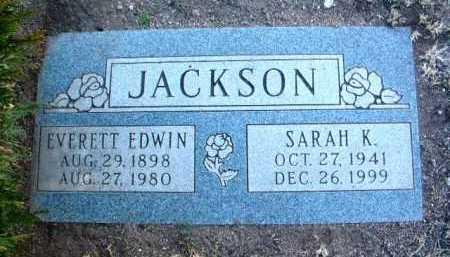JACKSON, SARAH K. - Yavapai County, Arizona | SARAH K. JACKSON - Arizona Gravestone Photos