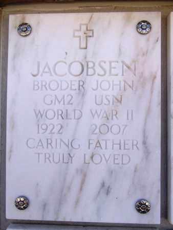 JACOBSEN, BRODER JOHN - Yavapai County, Arizona   BRODER JOHN JACOBSEN - Arizona Gravestone Photos