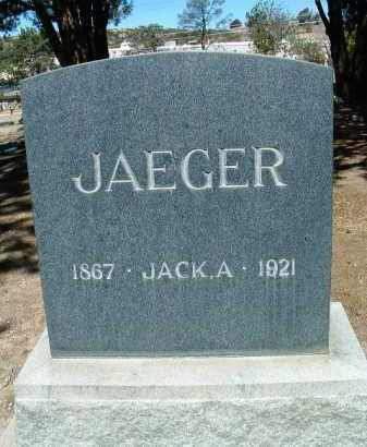 JAEGER, JOHN A. (JACK) - Yavapai County, Arizona   JOHN A. (JACK) JAEGER - Arizona Gravestone Photos