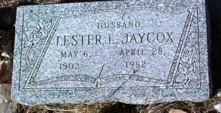 JAYCOX, LESTER LARUE - Yavapai County, Arizona   LESTER LARUE JAYCOX - Arizona Gravestone Photos
