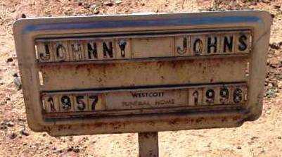 JOHNS, JOHNNY - Yavapai County, Arizona | JOHNNY JOHNS - Arizona Gravestone Photos